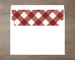 Maroon Plaid Pattern Envelope Liner