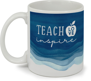 Blue Watercolor Stain Custom Mug