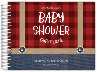 Lumberjack Baby Shower Guest Book