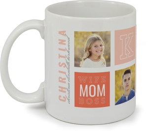 Modern Color Photo Grid Custom Mug