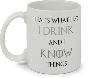 Drink & Know Things Coffee Mug