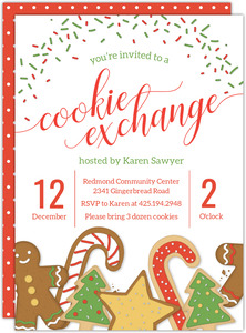 Sprinkles and Sweets Holiday Printable Party Invitation