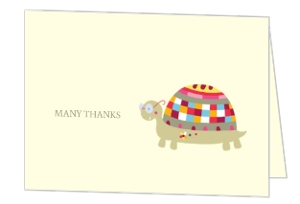 Little Turtle Baby Shower Thank You Card