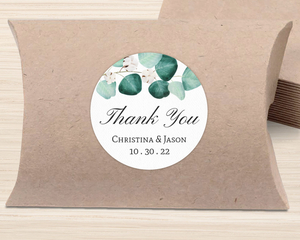 Elegant Silver Dollar Wedding Favor Label