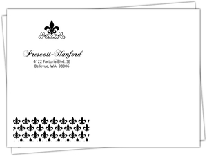 Black And White Fleur De Lis Envelope