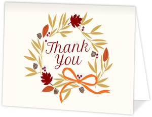 Harvest Wreath Thank You Card