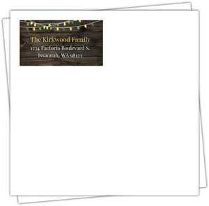 Christmas Lights Custom Envelope