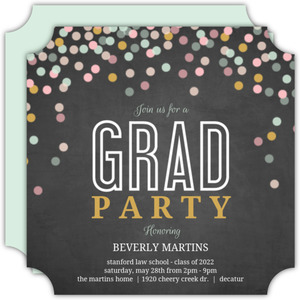 Confetti Celebrations Law School Graduation Invitation