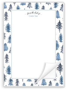 Watercolor Winter Trees Personalized Notepad