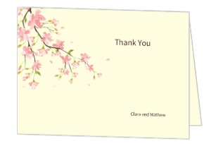 Spring Flowers Baby Shower Thank You Card