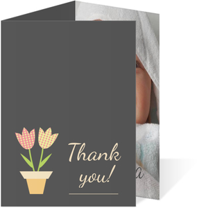 Two Little Blossoms Thank You Card