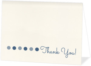Blue Polka Dot Baby  Baby Shower Thank You Card