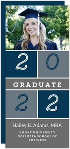 Colorblock Graduate School Graduation Announcement