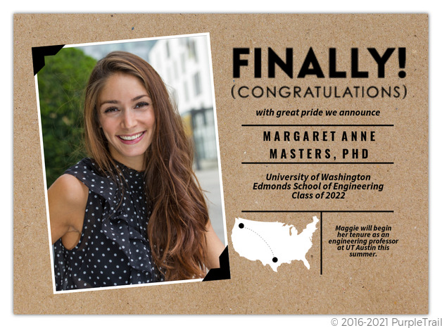 Kraft polaroid graduate school graduation announcement graduate kraft polaroid graduate school graduation announcement filmwisefo