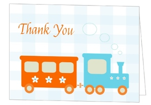 Choo Choo Train Baby Shower Thank You Card