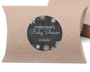 Falling Snowflakes Winter Wonderland Favor Label