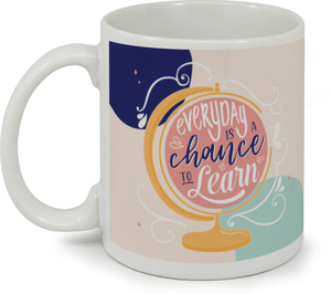 Chance To Learn Globe Custom Mug