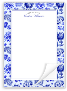 Royal Blue Watercolor Pattern Notepad