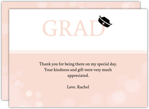 Nursing School Soft Pink Graduation Thank You Card