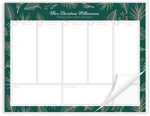 Tropical Plants Weekly Planner Notepad
