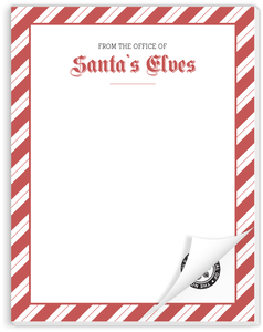 Office of Santa's Elves Christmas Notepad