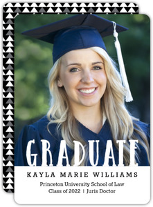Patterned Graduate Law School Graduation Announcement