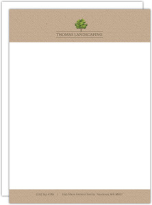 Landscaping Tree Business Letterhead
