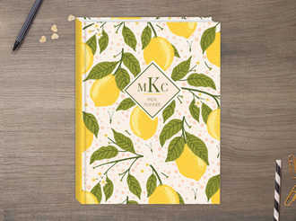 Lemon Vine Meal Sewn Planner