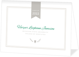 Preppy Chic Dental School Graduation Invitation