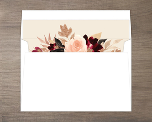 Faux Glitter Watercolor Foliage Envelope Liner