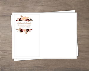 Faux Glitter Watercolor Foliage Envelope