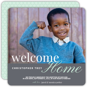 Home At Last Photo Adoption Announcement