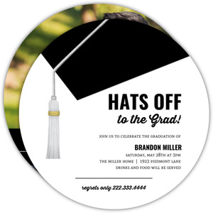 Hats Off Dental School Graduation Invitation