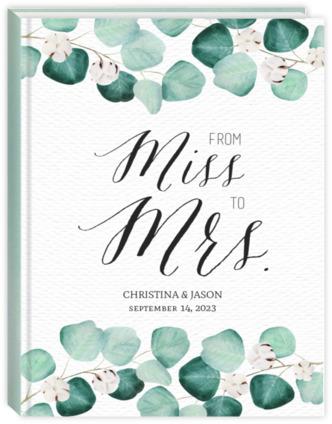 Elegant Silver Dollar Wedding Sewn Planner