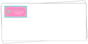 Turquoise and Pink Circus Birthday Envelope
