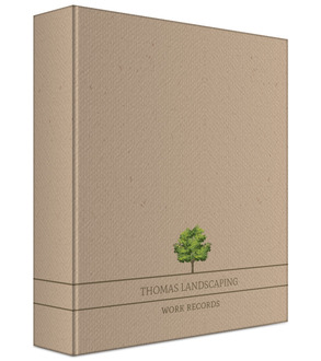 Simple Kraft Tree Business Binder