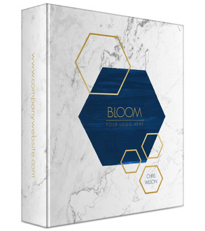 Modern Marble & Hexagon Business Binder
