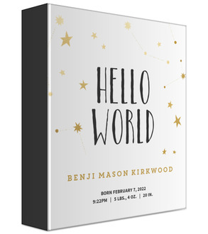 Hello World Stars Baby Keepsake Binder