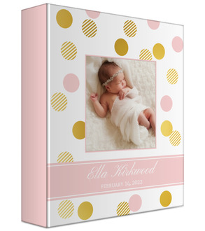 Striped Polka Dot Baby Keepsake Binder