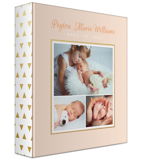 Peach Multiphoto Baby Keepsake Binder