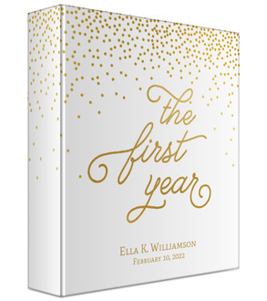 Faux Gold First Year Baby Keepsake Binder