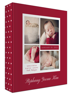 Classic Detail Photo Grid Baby Keepsake Binder