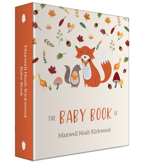 Woodland Friends Baby Keepsake Binder