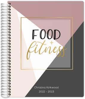 Geometric Food  Fitness Planner