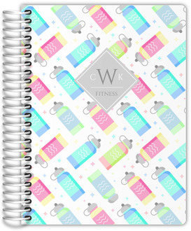 Neon Bottle Pattern Fitness Planner
