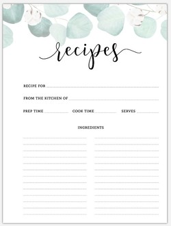 Elegant Silver Dollar Recipe Pages