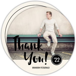 Bold Script Graduation Thank You Card