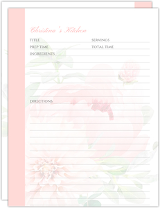 Blush Peonies Recipe Pages