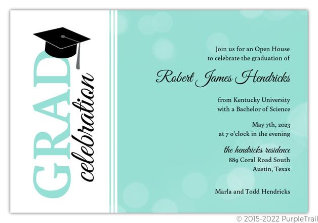 Turquoise bubbles graduation party invitation medical school turquoise bubbles graduation party invitation filmwisefo