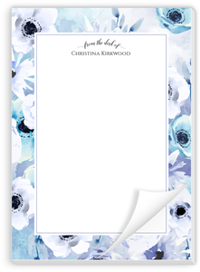 Watercolor Anemones Personalized Notepad